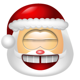 santa claus laughing emoticon