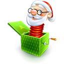santa claus toy icons