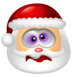 santa head emoticon