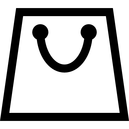 shopping bag sign icon