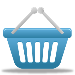 shopping basket icon blue