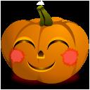 shy jack o lantern face icon