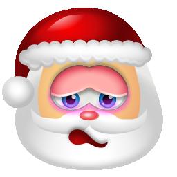 shy santa claus emoticon