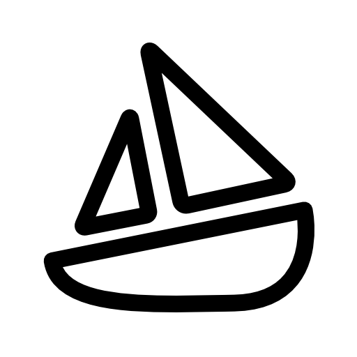 simple boat icon