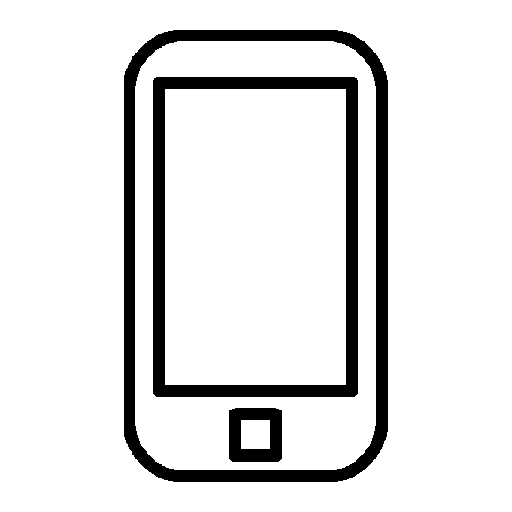 simple line phone icons