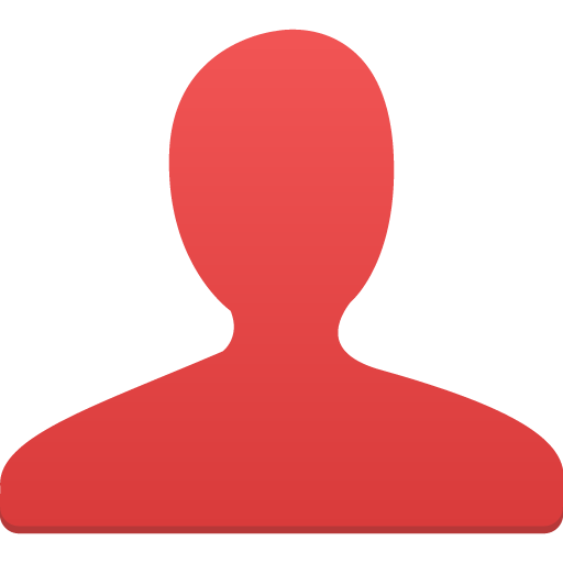 simple red user icon
