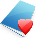 sky blue heart shaped favicon