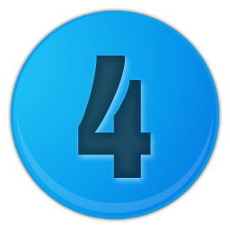 sky blue number 4 icon