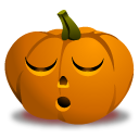 sleeping jack o lantern face icon