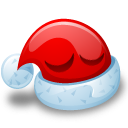 sleeping christmas emoticons