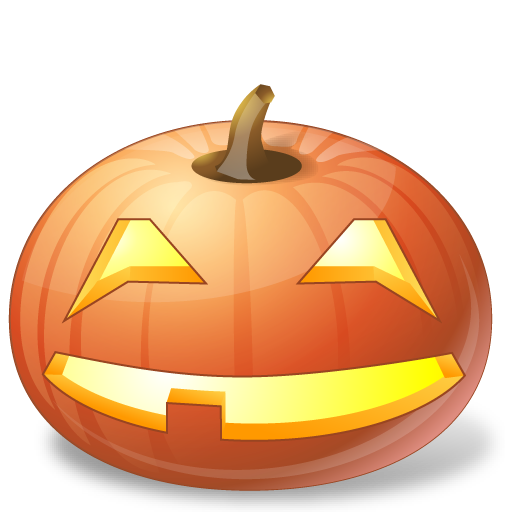 smiling jack o lantern face icon