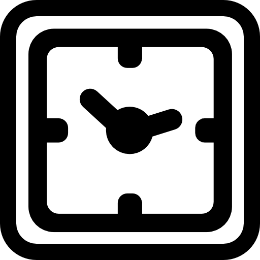square clock icon