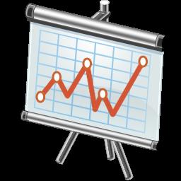 stock trend diagram icon