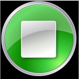 stop button green icon