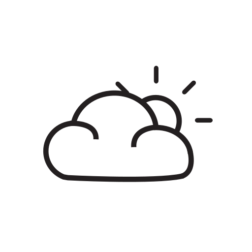 sunny to partly cloudy wear symbol
