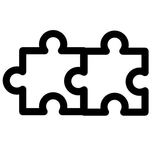 two puzzle pieces icons