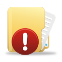 warning icon folder