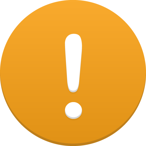 warning message icon