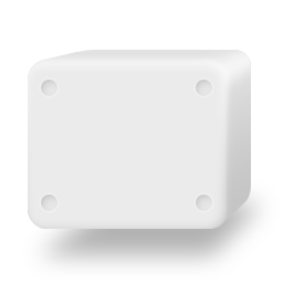 white solid disk drive icon