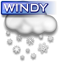 windy snowstorm wear icons