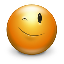 winking smiley face icon