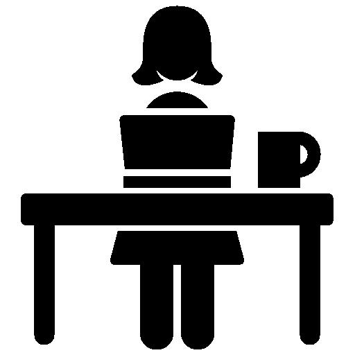 woman computer icon