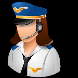 women pilots of civil aviation icon