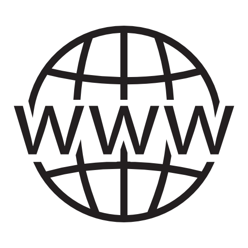world wide web globe icon