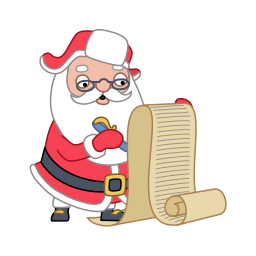write santa claus icons