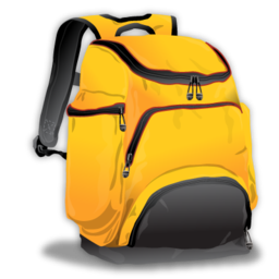 yellow backpack icon