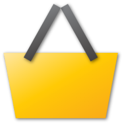 yellow basket icon