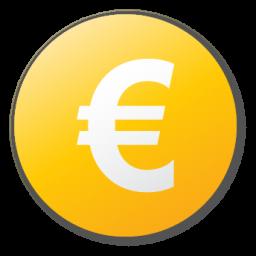 yellow euro sign icon
