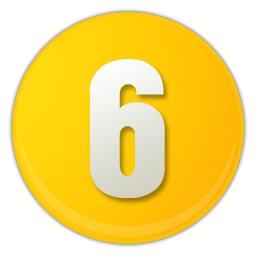 yellow number 6 icon