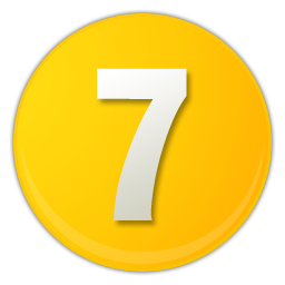 yellow number 7 icon
