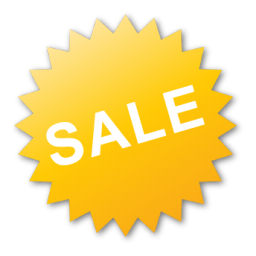 yellow sale tag icon