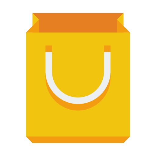yellow shopping bag icon